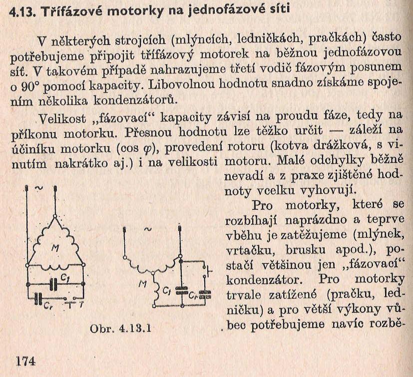 Výpočet elektrického výkonu 3 fázového motoru